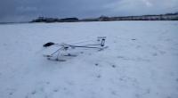 Vliegtuig in sneeuw